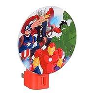 Avengers LED Wall Night Light W/Rotary Shade, Kids, Hero