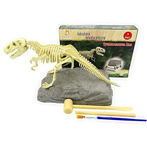 JCT Juguete De Dinosaurios Kit De Excavación De Fósiles Dinosaurio Huesos De Tiranosaurio, Esqueleto 3D, Dinosaur Dig Kit Toy, Educación Científica para Niños Desenterrar Dinosaurios (Tiranosaurio)