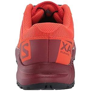 Salomon Kids' XA Elevate J Trail Running Shoes, CHERRY TOMATO/Red Dahlia/Black, 5