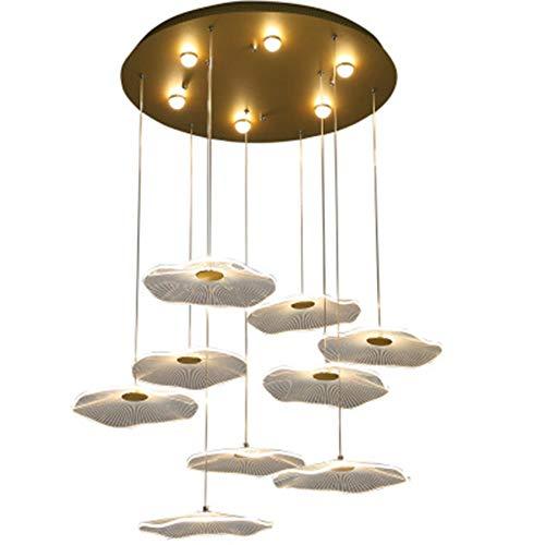 YFNB Luces Colgantes Techo Hoja De Loto Araña De Hierro Creativa para Restaurante Cafetería Sala De Estar Nórdica Decoración De Dormitorio