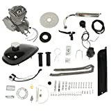 PEXMOR 2-Stroke 50cc Bicycle Engine Conversion Kit, Motorized Bike Cycle Gasoline Petrol Gas Motor Refit Kit Fuel-efficient For 26' Bikes(Silver)