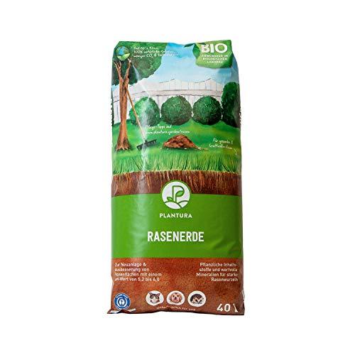 Plantura Bio Rasenerde, 40 L, torfreduzierte Rasenerde mit Sand