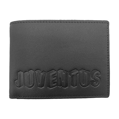 Juventus 133061 - Cartera de Piel Producto Oficial para Hombre, Color Negro, 125 x 95 x 30 mm