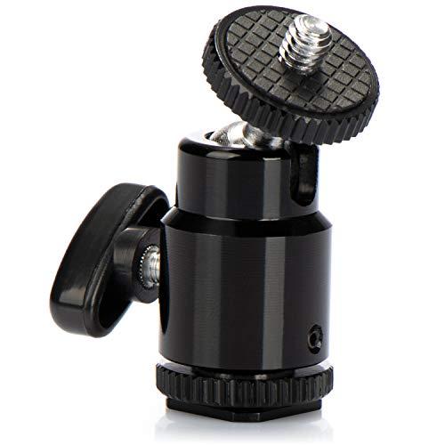 com-four® Mini Stativkopf mit Kugelkopf/Tripod Mini Ball Head mit 1/4