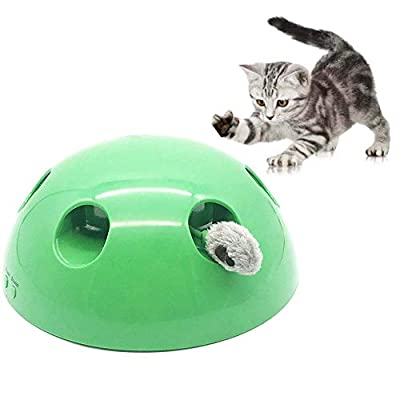 Cat Interactive Toys Pop N Play, Pet Motion Toy Automatic Electronic Smart Random Moving Cats Funny Cat Tool Claw Pet Supplies