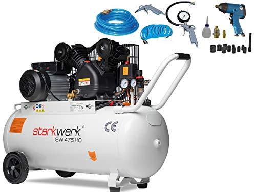 Starkwerk Druckluft Kompressor SW 475/10-100L Kessel SET