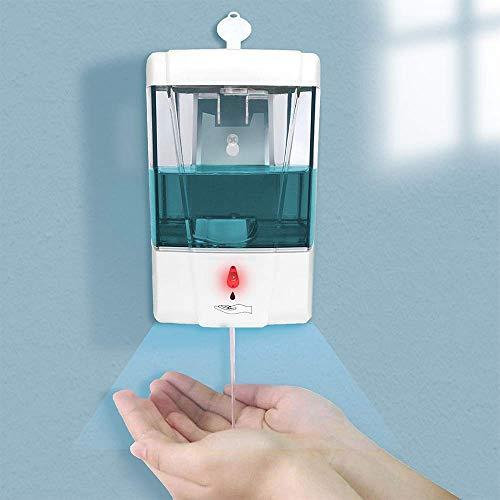 Powstro Dispensador de jabón automático Pared, dispensador de desinfectante Manos 700 ml líquido Dispensador de jabón de Manos sin Contacto para baño, Oficina en casa, Hospital, Restaurante