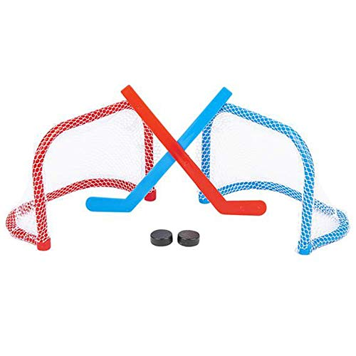 ArtCreativity Tabletop Mini Ice Hockey Game, Includes 2 Goals, 2 Sticks, and 2 Pucks, Indoor Desktop Game for Kids, Best Birthday Gift for Boys and Girls, Fun Sports Party Favors