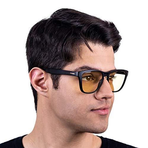 Oculos para Gamer Titans Sierra Preto - Lentes Amarelas