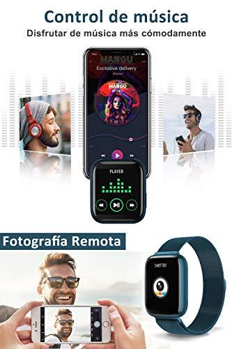 BANLVS Smartwatch, 1.4 Inch Reloj Inteligente IP67 con Pulsómetro Presión Arterial, Monitor de Sueño Podómetro Contador… 3