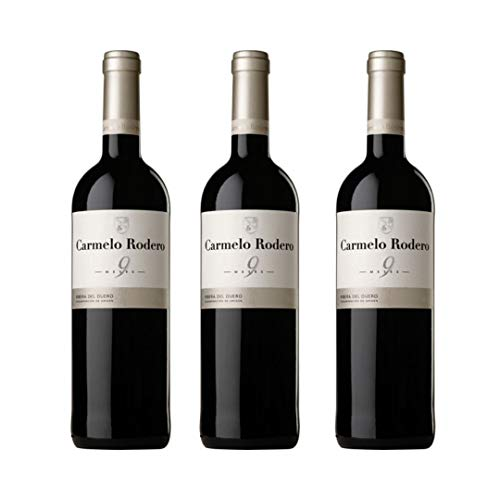 Carmelo rodero Vino tinto - 3 botellas x 750ml - total: 2250 ml