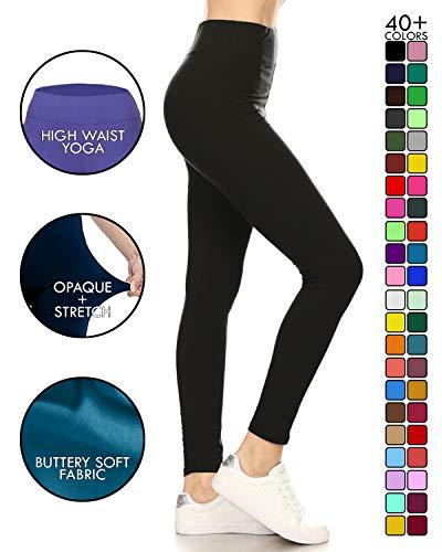 Yoga Solid Leggings (LYX128-NAVY)