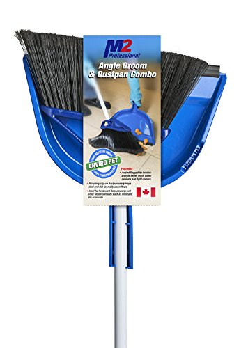 "M2 Professional 10"" Mars Angle Broom with Dust Pan (Pack of 4) - for Home, Office, Kitchen Use"