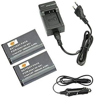 DSTE 2-Pieza Repuesto Batería y DC134E Viaje Cargador kit para Sony NP-BX1Cyber-shot CX240HDR-PJ10E CX240E DSC RX10II RX1B DSC-RX1R DSC-RX1DSC-RX1R/B DSC-RX100DSC-RX100II DSC-RX100III