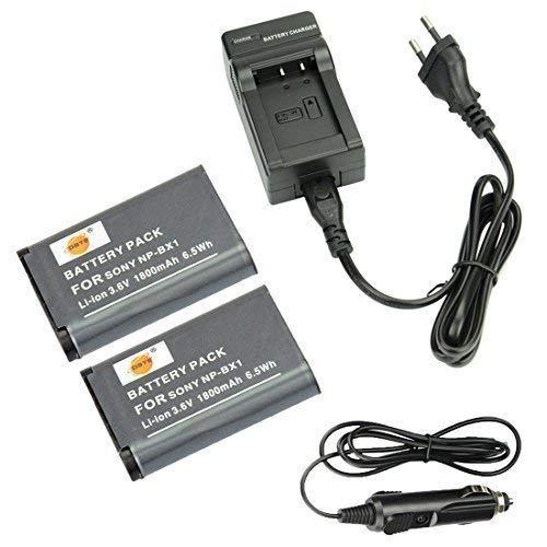 DSTE®(2 Pack)Ersatz Batterie und DC134E Reise Ladegerät Compatible für Sony NP-BX1 ZV1 ZV-1 Cyber-shot DSC-RX100VII HDR-CX240E DSC-RX1 DSC-RX1B DSC-RX1R DSC-RX1R/B DSC-RX100 DSC-RX100 II DSC-RX100 III DSC-RX1RM2