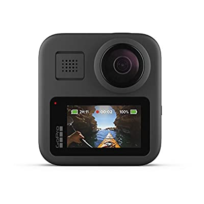 GoPro MAX — Waterproof 360 + Traditional Camera with Touch Screen Spherical 5.6K30 HD Video 16.6MP 360 Photos 1080p Live Streaming Stabilization by