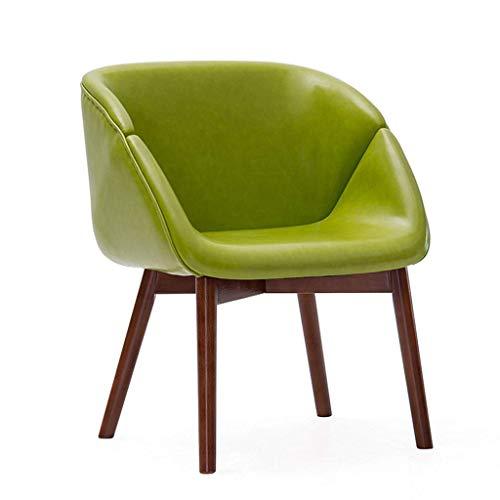 TZSJBD Massivholz-Lounge Chair Modern Dining Chair einfach und komfortabel Study Room Bar Make-up-Stuhl zu Hause Stuhl Brown Oak Geschlossenen J6B8D3 (Farbe : Grün)