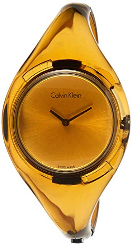 Calvin Klein Reloj Analógico para Mujer de Cuarzo con Correa en Resina K4W2MXF6