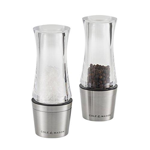 Cole & Mason Set Mühlen Salz und Pfeffer Downton, Acryl, transparent, 6x 6x 14cm