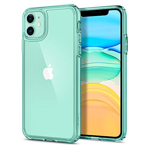 Spigen Funda Ultra Hybrid Compatible con iPhone 11 - Verde Cristalina
