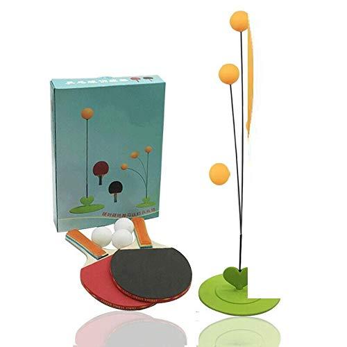 Ping-Pong-Paddel-Sportausrüstung Elastischer flexibler Schaft Einzel-Selbstübungsball Vision Kinderschläger Holz Tischtennis-Trainingsausrüstung-Cricketschläger