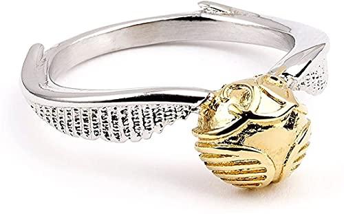 Anillo de metal dorado de Harry Potter, con caja de regalo