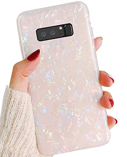 J.west Schutzhülle für Galaxy Note 8, luxuriös, süß, glitzernd, transparent, aus weichem Silikon, für Mädchen & Frauen, schmal, modisches Muster, Schutzhülle für Samsung Galaxy Note 8, bunt