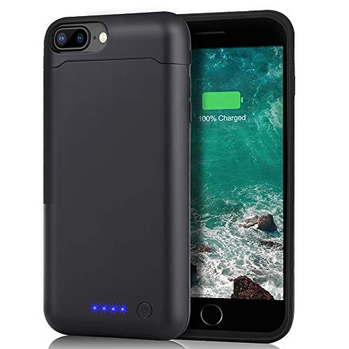 SHENMZ Battery Case for iPhone 7 Plus 8 Plus, 8500mAh Charging Case for iPhone 6 Plus / 6s Plus 5.5 Inch Charger Case(24 Month Warranty)