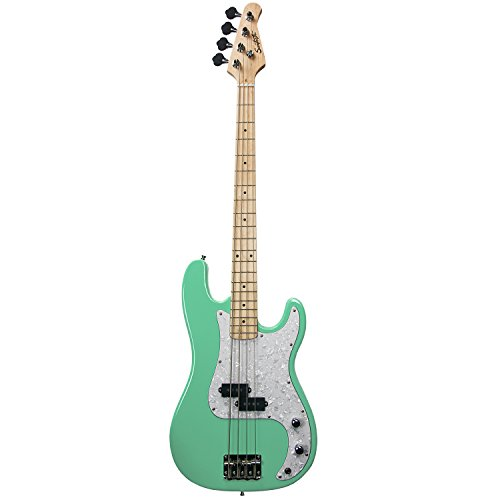 Sawtooth EP Series Electric Bass Guitar, Surf Green w/Pearl Pickguard