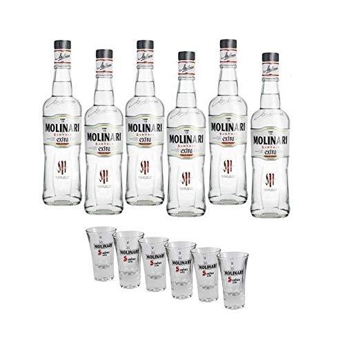 SAMBUCA EXTRA 1,5 Liter 6 Flaschen mit 6 Originalglsern