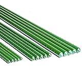 HDGZ Soportesde Planta,Cañas jardín, Estantes de Planta,Estacas de Planta,Tubo de Acero Recubierto de plástico 16 mm/20 mm de diámetro, Paquete de 10(20mm 150cm)