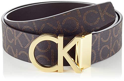 Calvin Klein Ck Rev.adj. New Mono Belt 3.5cm Cintura, Marrone (Brown Monogram 0hd), 9 (Taglia Produttore: 105) Uomo