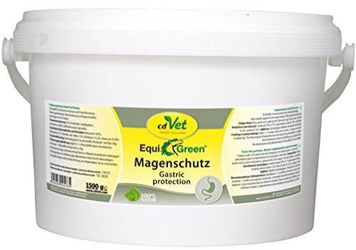 cdVet Naturprodukte EquiGreen Magenschutz 1,5 kg - Pferd - Ergänzungsfuttermittel - Magensäurebindend - Schleimhautschutz - Regulation des Säure-Basen-Haushaltes - sanfte Sanierung - Unterstützung -