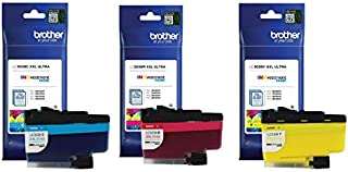 Brother Genuine LC3039C, LC3039M, LC3039Y Ultra High-Yield Cyan/Magenta/Yellow INKvestment Tank Ink Cartridge Color Set, L...