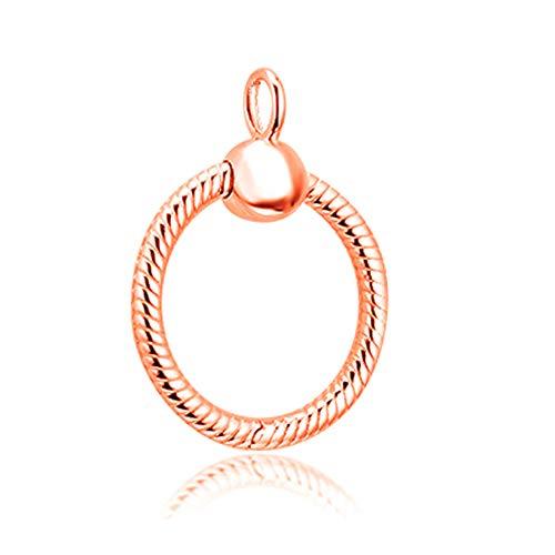 COOLTASTE 2019 jesień 2019 różowe złoto momenty mały wisiorek srebro próby 925 DIY pasuje do oryginalnych bransoletek Pandora charm modna biżuteria (różowe złoto)