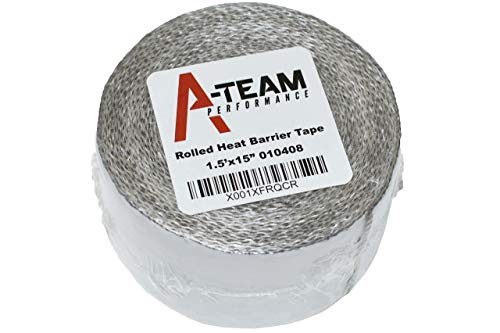 """A-Team Performance Heat Shield Tape with PSA Ultra-Lightweight Self-Adhesive Heat Resistant Heat Reflective Thermal Tape 1.5"""" x 15' Roll Adhesive Backed Heat Barrier"""
