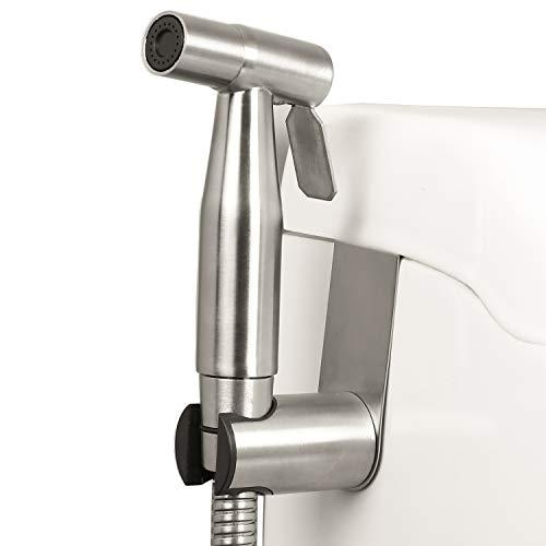 Ntipox Handheld Bidet Sprayer for Toilet,Stainless Steel Bathroom Bidet Sprayer Set,Spray Attachment with Hose for Feminine Wash, Baby Diaper Cloth Washer Cleaner and Shower Sprayer for Pet