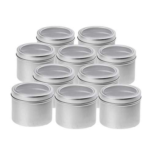Colcolo Envase de Crema de Aluminio Vacío de 10 Piezas 100 Ml con Tapa