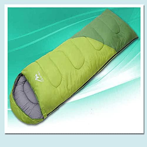 Akaid Saco de Dormir Algodón para Adultos Impermeable y cálido Saco de Dormir de Primavera y Verano de Tres Estaciones Adecuado para Acampar, Senderismo, al Aire Libre