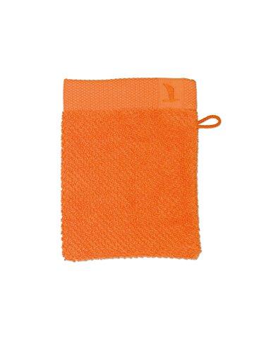 möve New Essential gant de lavage 15 x 20 cm en 100% coton, orange