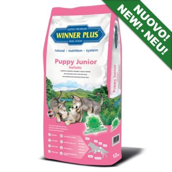 WINNER PLUS Puppy Junior holistic 12 kg - Alimento olistico, nutriente e completo: a base di anatra, salmone e patate