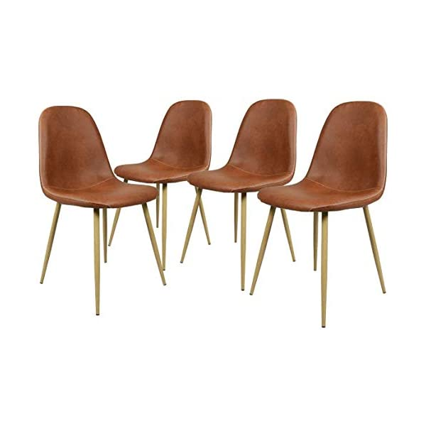 GreenForest pu Leather Dining Chairs Set of 4