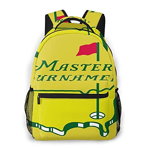 Kanxdecor Zaino casual,Torneo Masters Augusta National Golf, borsa da viaggio con cerniera, per affari, scuola, lavoro, borsa per laptop 16 'X11.5'X8'
