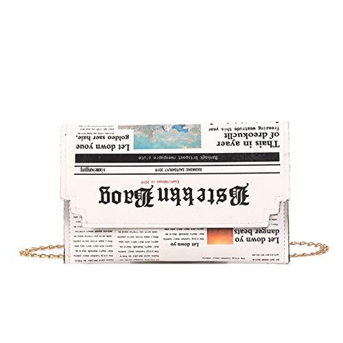 PU Lederkette Zeitung Umhängetaschen Einfache kleine quadratische Tasche Damen Designer Handtasche,PU Leather Chain Newspaper Shoulder Bags Simple Small Square Bag Women\'s Designer Handbag