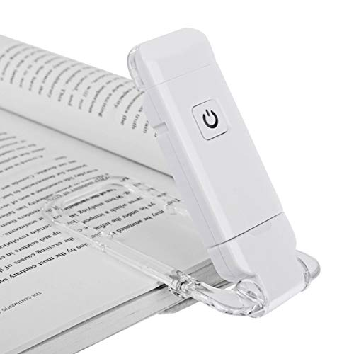 DEWENWILS Rechargeable Book Light for Reading in Bed, Brightness Adjustable for Eye Care, LED Clip On Book Light for Kids, Mini Bookmark Light for Bookworms, Daylight