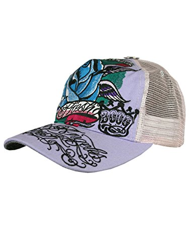 L.A. Fresh® Unisex Designer Trucker Chapeau Cap - Winged Rose -