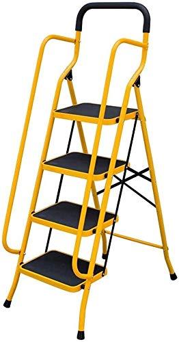 WYKDL Rango de Trabajo escalera con plataforma plegable del hogar taburete de paso ancho pedal robusto Escalera del Mango antideslizante Familia Escalera engrosamiento del hogar escalera plegable anch