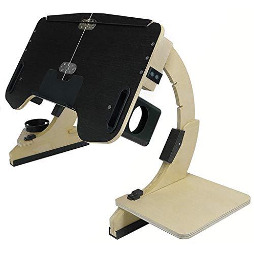 Laptoptisch fürs Bett, höhenverstellbar faltbar Laptopständer Betttisch Frühstücktisch Notebookständer Pflegetisch Notebook Tisch Couch Laptop Tablett Ständer,Schwarz