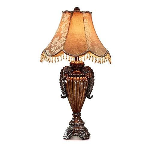 Wotbxchbbtde Lámpara europea retro tabla, dormitorio de noche Resina luz del escritorio, sala de estar, iluminación de la decoración de la antigüedad, luz de la noche, la luminaria, bajo consumo de en