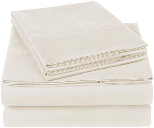 Pinzon 300 Thread Count Organic Cotton Bed Sheet Set - King, Natural